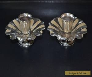 VINTAGE SILVER PLATED CANDLE HOLDERS for Sale