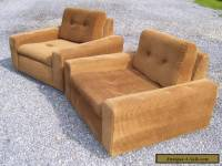 VINTAGE MID CENTURY MODERN PAIR OF CLUB LOUNGE CHAIRS- LOW PROFILE