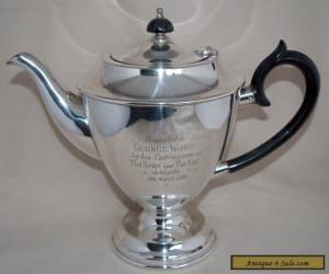 1930's Vintage HECWORTH Silver Plate Footed Tea Pot Pot 900ml for Sale
