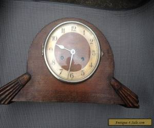 Vintage Wooden Art Deco Mantle Clock Wind Up Brass Mechanisum for Sale