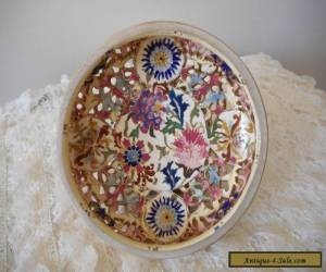 Antique Zsolnay Fischer Budapest footed porcelain bowl for Sale