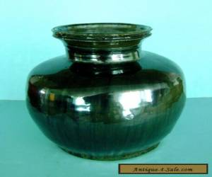 Antique Chinese 12th c. Song Dynasty Henan Black Stoneware Pottery Jar Vase Pot for Sale