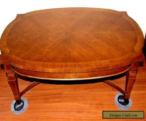 DREXEL HERTIAGE COFFEE TABLE VINTAGE W/ TWO PULL OUT SIDE TRAYS for Sale