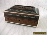 Vintage Indian Carved wooden box with ball feet