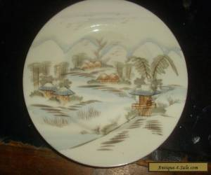 Small Antique Chinese Hand Painted Porcelain Plate. for Sale