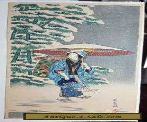 AFTER TAKAHASHI SHOTEI-Japanese Woodblock Print for Sale