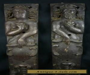A PAIR OF ANTIQUE WOOD CARVED PANELS for Sale