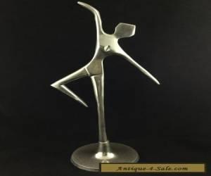 ART DECO SILVER CHROME DANCING DIANA NUDE LADY FIGURE ~ VINTAGE FIGURINE for Sale