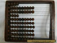 Antique 19th Century Chinese Wood Iron Wire Abacus 88 Beads Early Construction