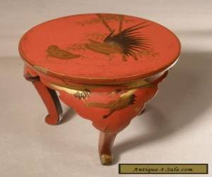 Japanese Red Lacquer Miniature Table for Sale