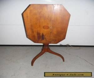 Antique Hepplewhite Mahogany Spider Leg Tilt Top Side End Table for Sale