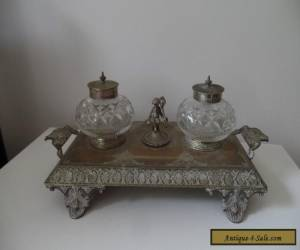 Antique/Vintage  Ink Well with Glass Ink Well  for Sale