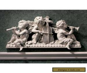 Angelic Choir Band Cherub Wall Sculpture Pediment Baroque for Sale
