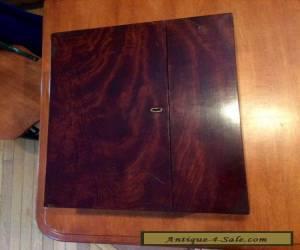 19th century antique crotch mahogany folding lap desk for Sale