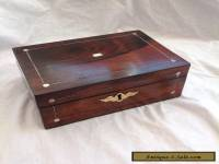Lovely Victorian Jewellery/Sewing Box With Great Interior