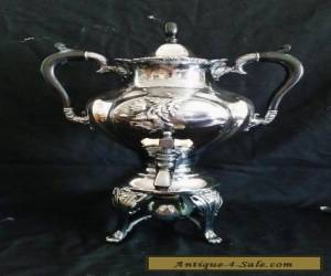 """Antique Meriden Silver Plate Coffee / Hot Water Urn 15"""" for Sale"""