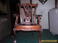 Vintage Child's Chippendale Style Arm Chair  Claw And Ball Foot