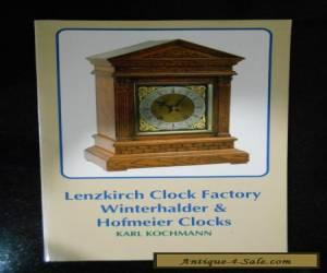 Lenzkirch Clock Factory Winterholter & Hofmeier Clocks for Sale