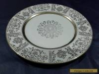 ANTIQUE JOHNSON BROTHERS VICTORIAN CREAM & GOLD LEAF 22.5CM PLATE A/F C 1913