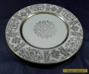 ANTIQUE JOHNSON BROTHERS VICTORIAN CREAM & GOLD LEAF 22.5CM PLATE A/F C 1913 for Sale