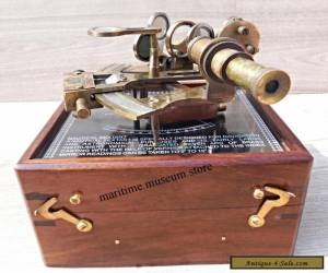 Antique Brass Nautical Sextant with wooden Box.. for Sale