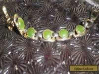Greenstone Vintage 1960s Modernist Bracelet Art Deco-NZ Deceased Estate