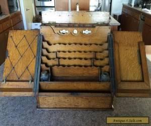 Antique Oak Sea Capitains Table top desk for Sale