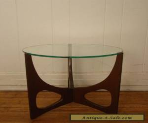 VINTAGE 1960S MODERN SIDE TABLE ADRIAN PEARSALL GLASS WOOD mid century modern for Sale