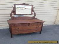 1 Antique OAK Victorian Dresser with Mirror
