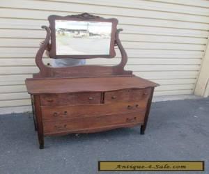 1 Antique OAK Victorian Dresser with Mirror for Sale