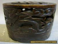 Vintage Oriental hand crafted dragon pattern decorative jar / art work