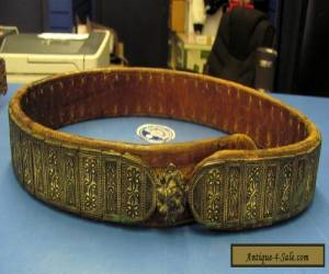 ANTIQUE ARMENIAN OTTOMAN TURK BELT SILVER AND LEATHER for Sale