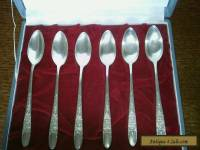Set of 6 solid silver tea/coffee spoons