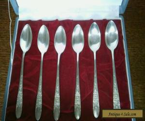 Set of 6 solid silver tea/coffee spoons for Sale