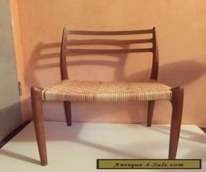 VINTAGE DANISH MODERN WOOD & WICKER MOLLER CHAIR DESIGNER  for Sale