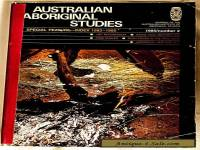 "Magazine ""Australian Aboriginal Studies"" 1985 Article on Trade In Stone Items"