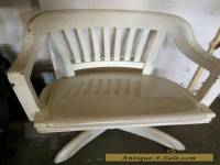 Antique WH Gunlocke Office Chair solid wood seat vintage