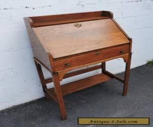 Early 1900's Small Mission Solid Oak Secretary Desk 7759 for Sale