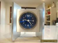 """Vintage 'SOLO""""  Made in France Modernist Design 4 Jewels Alarm Clock"""