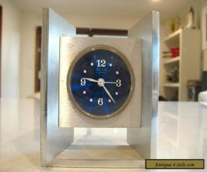 "Vintage 'SOLO""  Made in France Modernist Design 4 Jewels Alarm Clock for Sale"