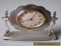 FINE SMALL STERLING SILVER 8 DAY CLOCK in Working Order