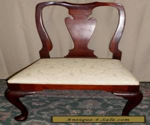 HICKORY CHAIR MAHOGANY DINING SIDE CHAIR Queen Anne Style VINTAGE for Sale