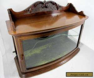 SMALL MAHOGANY CURVED GLASS TABLETOP SHOWCASE, C 1900 for Sale