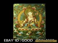 Tibetan Nepal Silk Embroidered thangka Tara Tibet --- White Tara