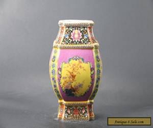Chinese handwork painting cloisonne Porcelain vase YONGZHEN mark C967 for Sale