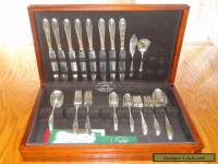 "Gorham ""Invitation"" Siverplate Flatware 53-pc Set -Service for 8"