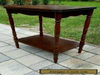 VINTAGE  ART DECO INLAID MAHOGANY WALNUT MARQUETRY SIDE ACCENT TABLE