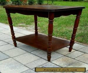 VINTAGE  ART DECO INLAID MAHOGANY WALNUT MARQUETRY SIDE ACCENT TABLE for Sale