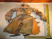 ANTIQUE MARIONETTE PUPPET OLD CHINESE MASTER PAINTED WOODEN HEAD & FEATURES DOLL