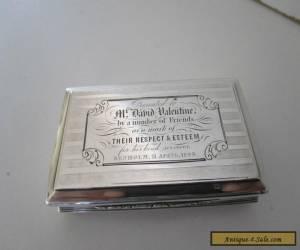 Victorian Sterling Silver Snuff Box..Nathaniel Mills..Birmingham 1845.. for Sale